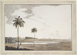 A distant view from the W. of Fort St George (Madras)